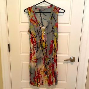 Silky Sandwich summer dress with slip and scarf